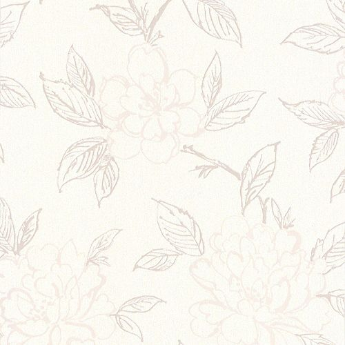 Bloom Cream/Beige Wallpaper