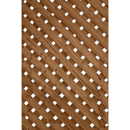 Panneau de treillis Intimité Plus, 1 x 8 pi, brun