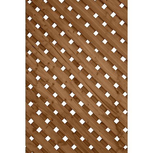 1 ft. x8 ft. Privacy Plus Brown Lattice Panel