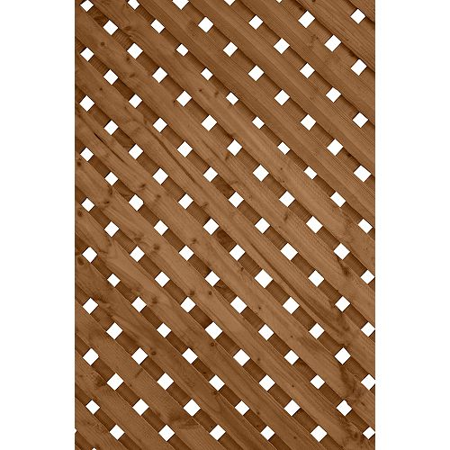 2 ft. x8 ft. Privacy Plus Brown Lattice Panel