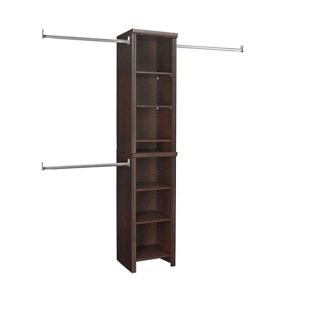ClosetMaid Impressions 4 ft. to 9 ft. W Narrow Closet Kit in Chocolate