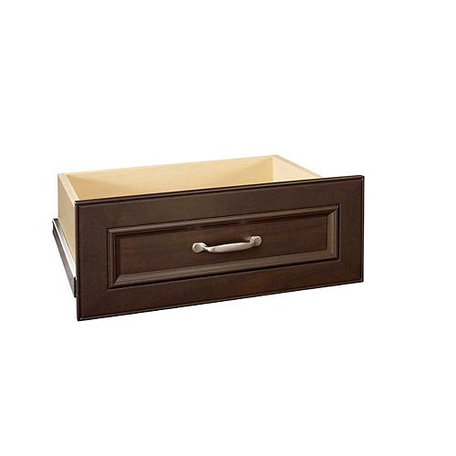 Impressions 25-inch Wide Deluxe Drawer Kit in Chocolate