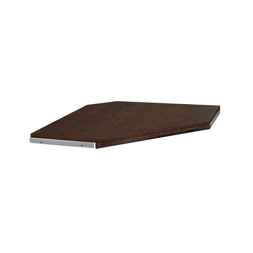 ClosetMaid Impressions 28 -inch Chocolate Corner Shelf Kit with moulding