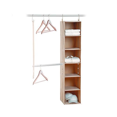 closetMAX System 2-Piece System with 6 Shelf & Bar