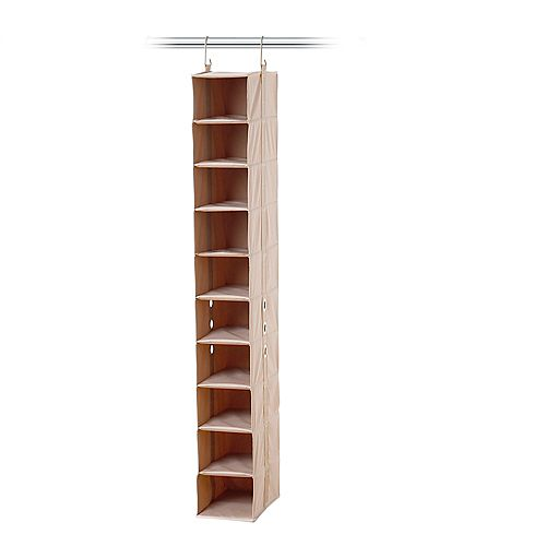 closetMAX System 10 Shelf Shoe Organizer