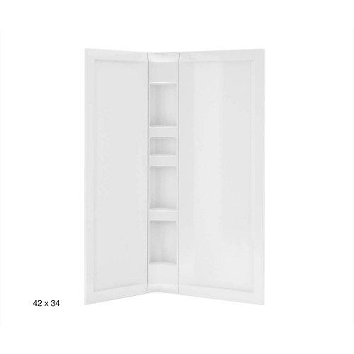 3-Piece Acrylic Wall Set White