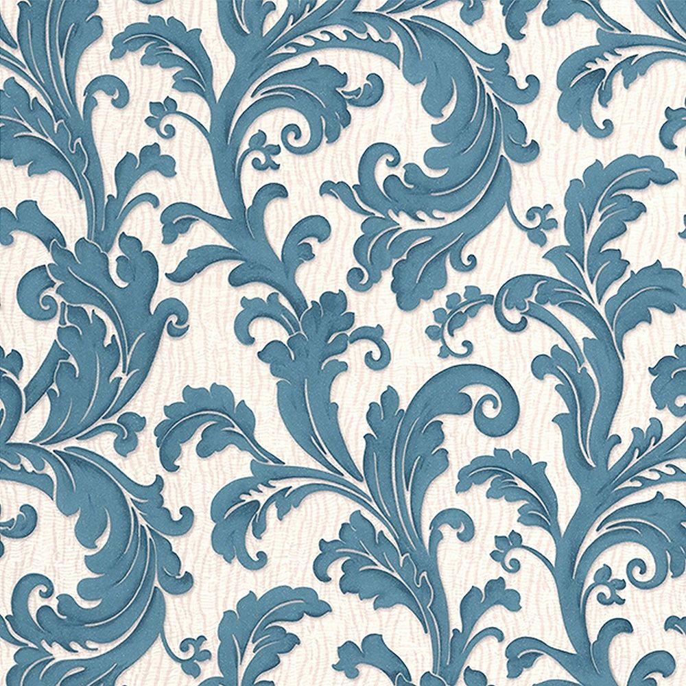 Graham & Brown Capulet Turquoise/Cream Wallpaper