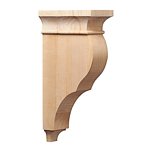 Corbeau classique en érable - 6 1/2 x 3 x 12 po