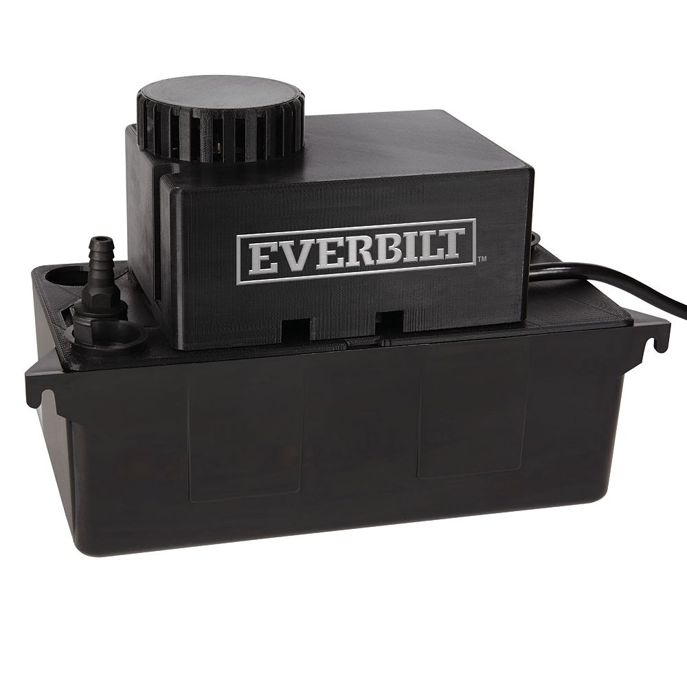 Everbilt Condensate Pump, 115V, w/safety and auto on/off Switch, w/discharge tube/hdwe