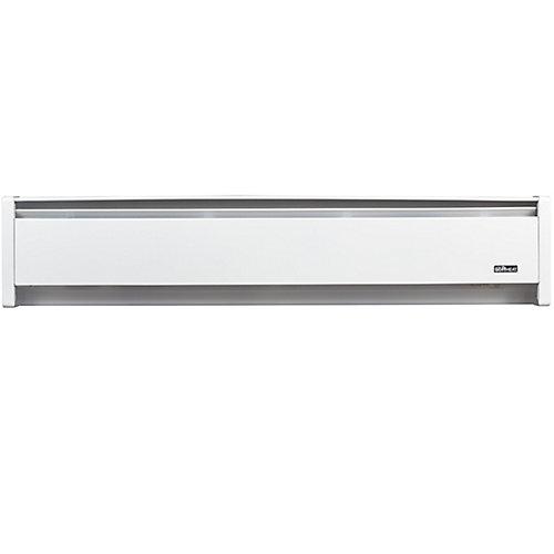 Plinthe électrique de chauffage hydronique SoftHEAT 500W, 240V, fils à gauche, 35po (88,9cm), blanche
