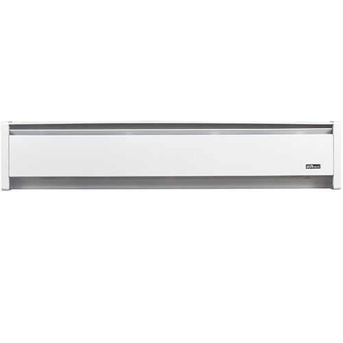 SoftHeat Hydronic 83-inch 1500W 240V Baseboard Heater with Right-End Cord in White