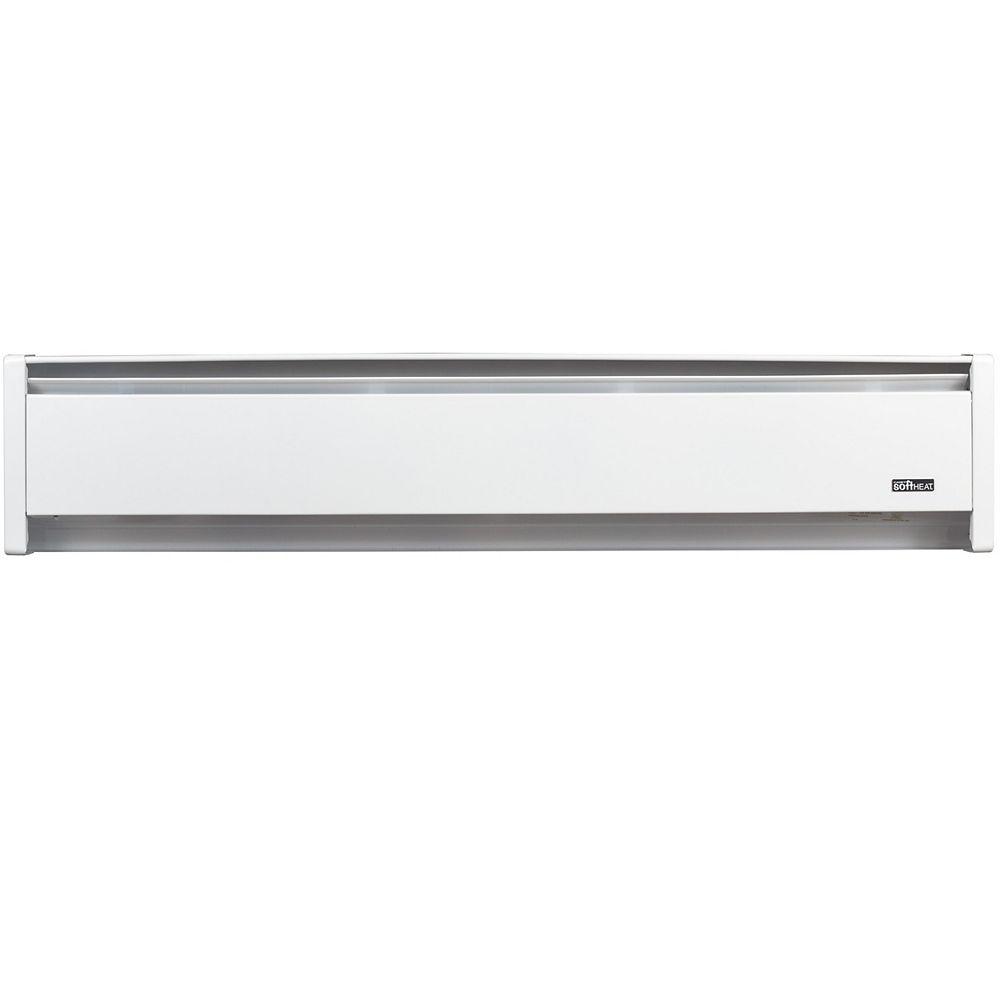 Cadet 1500W 120V, 83 inch SoftHeat hydronic baseboard, white