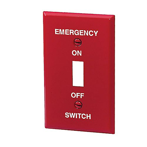 Iberville Emergency Switch Plate Red