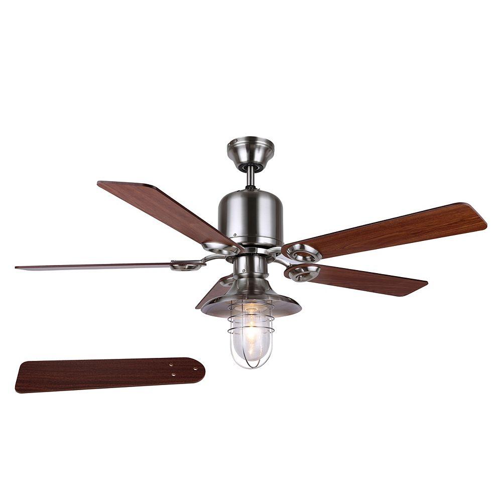 """Canarm SAWYER 48"""" ventilateur de plafond de nickel brossé"""