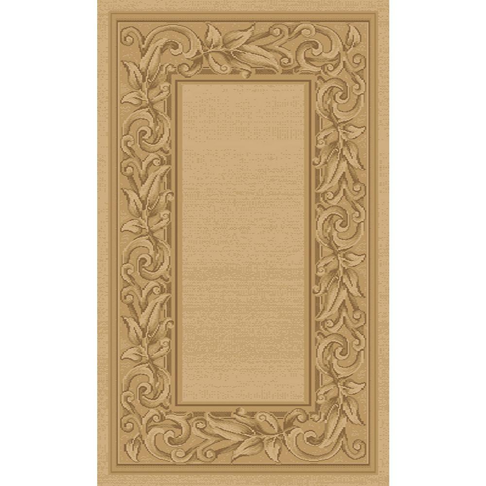 Balta Us Carpette d'intérieur, 3 pi 11 po x 5 pi 7 po, style transitionnel, rectangulaire, havane Elegant Embrace