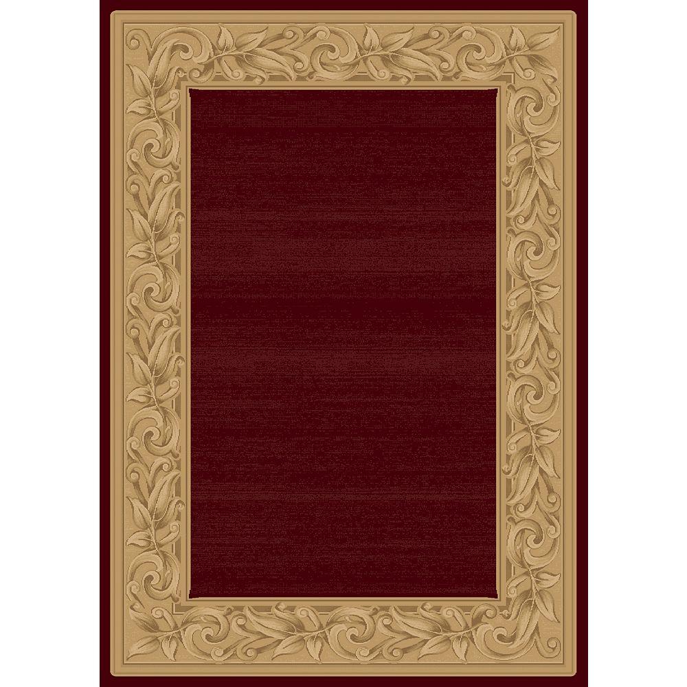 Balta Us Elegant Embrace Red 3 ft. 11-inch x 5 ft. 7-inch Indoor Transitional Rectangular Area Rug