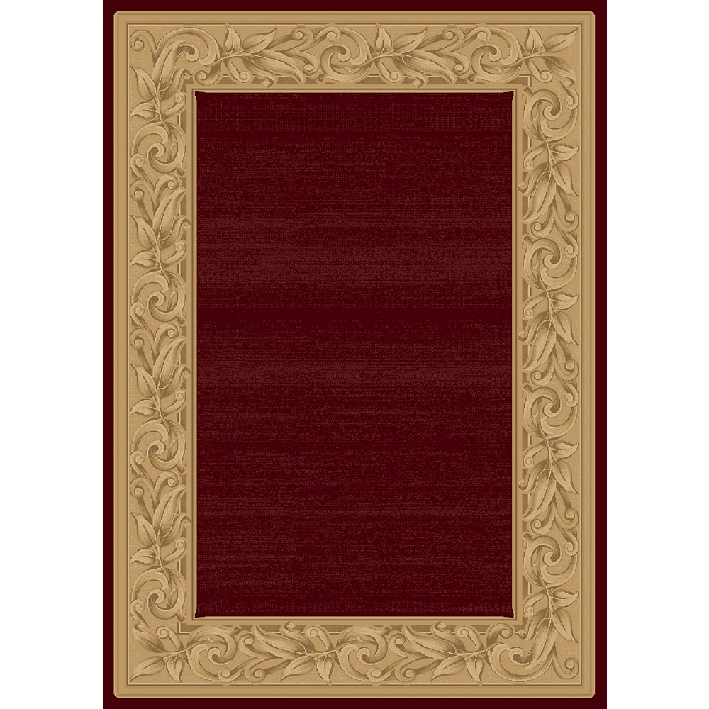 Balta Us Elegant Embrace Red 6 ft. 6-inch x 9 ft. 6-inch Indoor Transitional Rectangular Area Rug