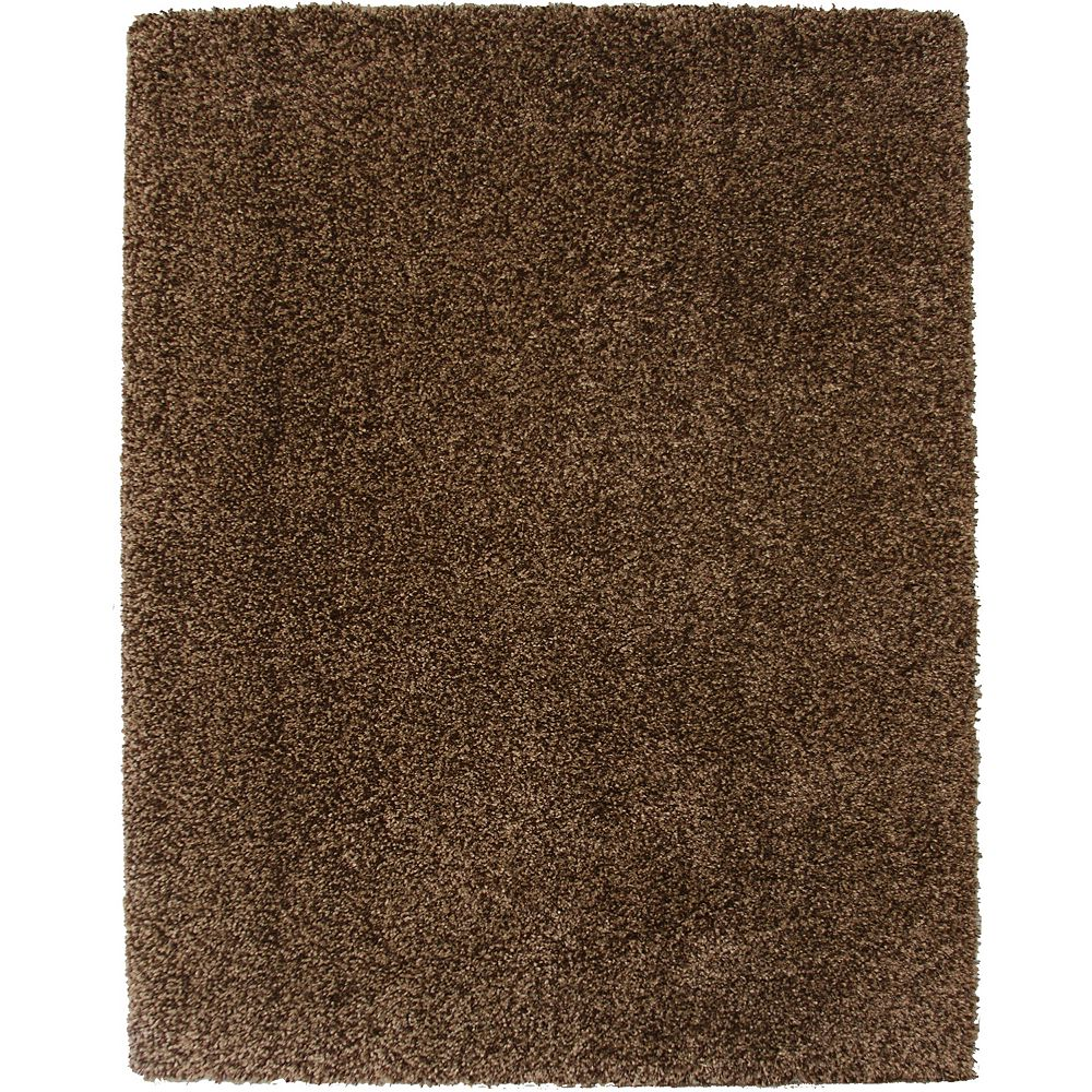 Hanford Shag Brown 5 ft. 3-inch x 7 ft. 5-inch Indoor Shag Square Area Rug
