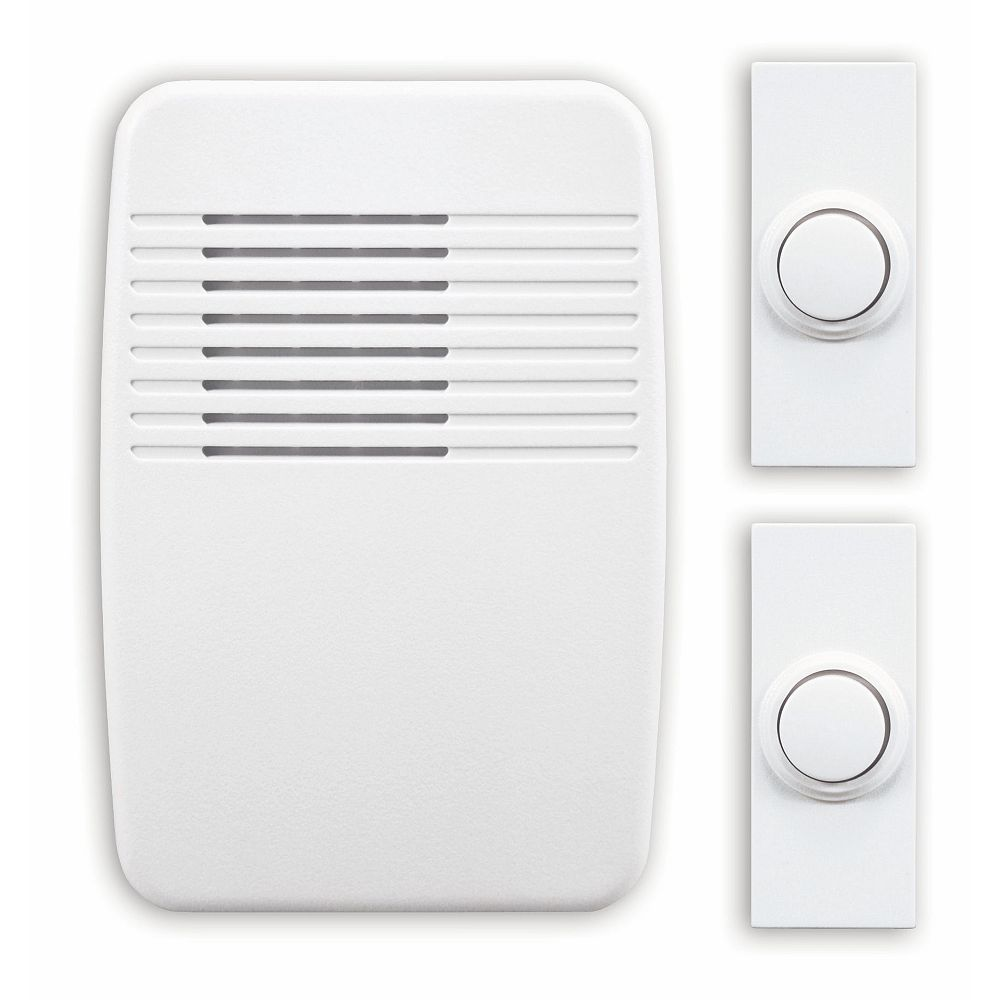 Heath Zenith Wireless Plug-In Door Chime Kit with 2 Push Buttons