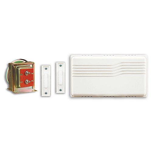 Kit de carillon de porte filaire avec deux boutons poussoirs