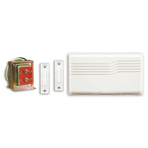Wired Door Chime Kit With Two Push Buttons