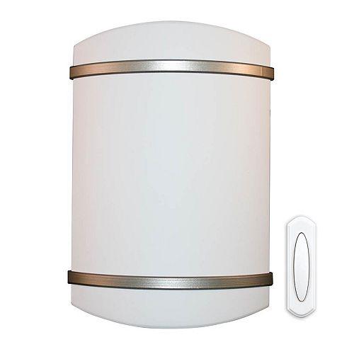 Batterie sans fil exploités le carillon de porte - Garniture de nickel satiné