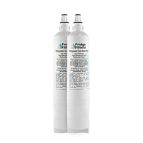 Replacement Refrigerator Water & Ice Filter for LG LT600P, 5231JA2006B, 5231JA2006A (2-Pack)