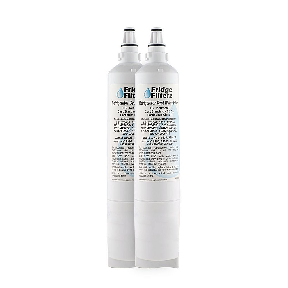Fridge Filterz Replacement Refrigerator Water & Ice Filter for LG LT600P, 5231JA2006B, 5231JA2006A (2-Pack)
