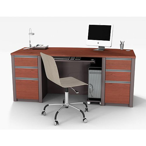 Connation 71.1-inch x 30.4-inch x 29.8-inch Standard Computer Desk in Red