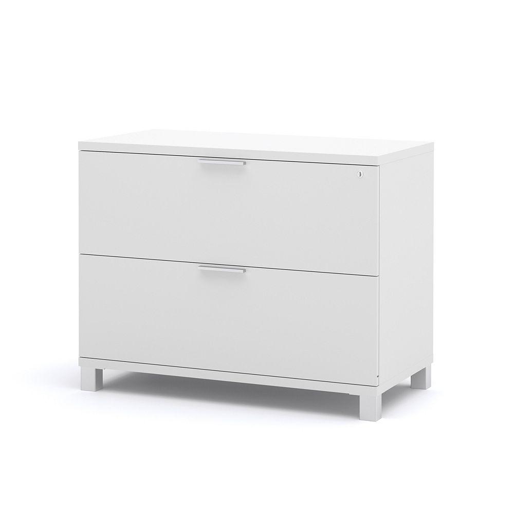 Bestar Classeur à 2tiroirs Pro-Linea, 35,6po x 28,4po x 19,5po, bois manufacturé, blanc