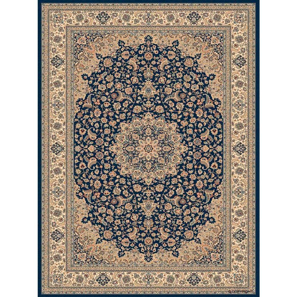 Balta Us Carpette d'intérieur, 3 pi 11 po x 5 pi 7 po, style traditionnel, rectangulaire, bleu Classical Manor
