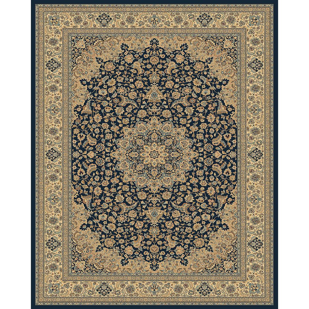 Balta Us Classical Manor Blue 7 ft. 10-inch x 11 ft. Area Rug