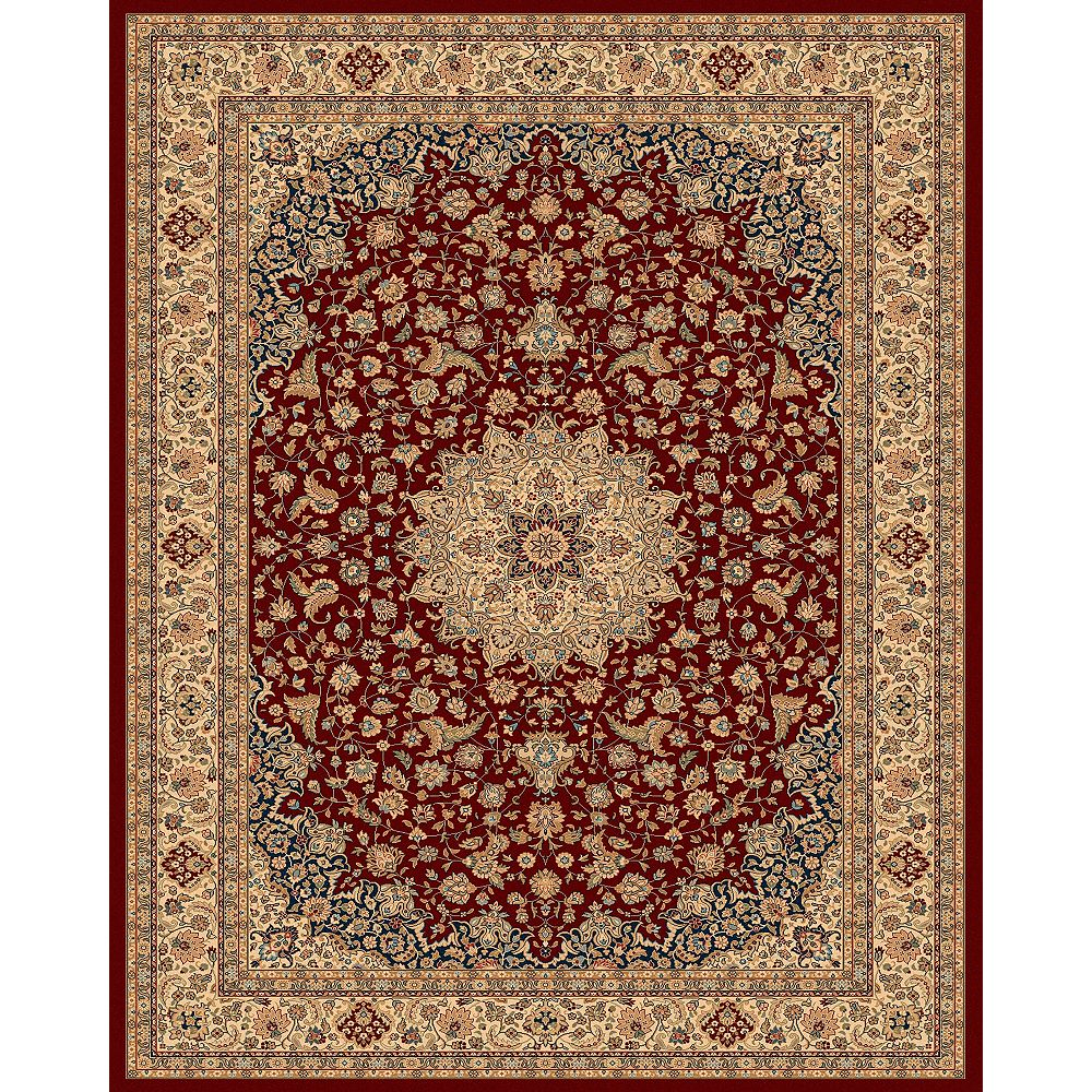 Balta Us Classical Manor Red 7 ft. 10-inch x 11 ft. Indoor Traditional Rectangular Area Rug