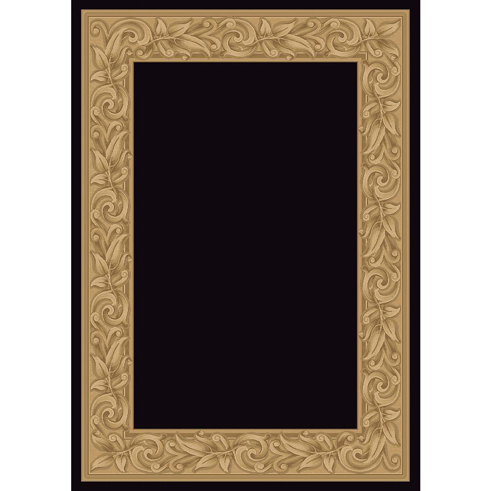 Balta Us Carpette d'intérieur, 5 pi 3 po x 7 pi 5 po, style transitionnel, rectangulaire, noir Elegant Embrace