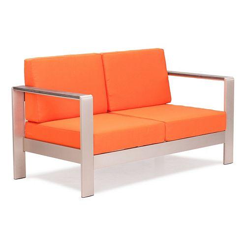 Cosmopolitan Orange Outdoor Sofa Cushion