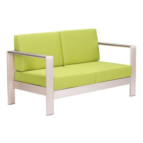 Cosmopolitan Green Outdoor Sofa Cushion