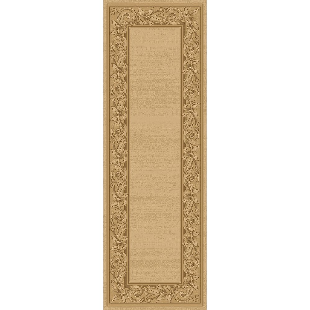 Balta Us Tapis de passage d'intérieur, 2 pi 7 po x 7 pi 10 po, style contemporain, havane Elegant Embrace