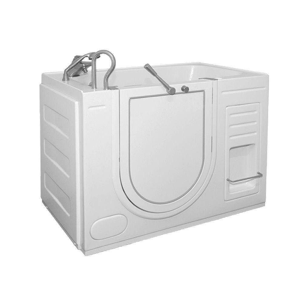 Ella Oasis 4 Feet 3 1/4-Inch Walk-In Whirlpool Bathtub in White