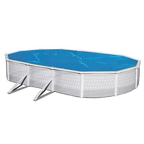 Toile solaire ovale 5,5 m x 12,2 m (18 pi x 40 pi) x 8 mm pour piscine hors-terre - Bleue