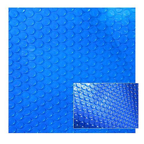 12 ft. x 20 ft. 12-mil Rectangular Blue Solar Blanket for In-Ground Pools