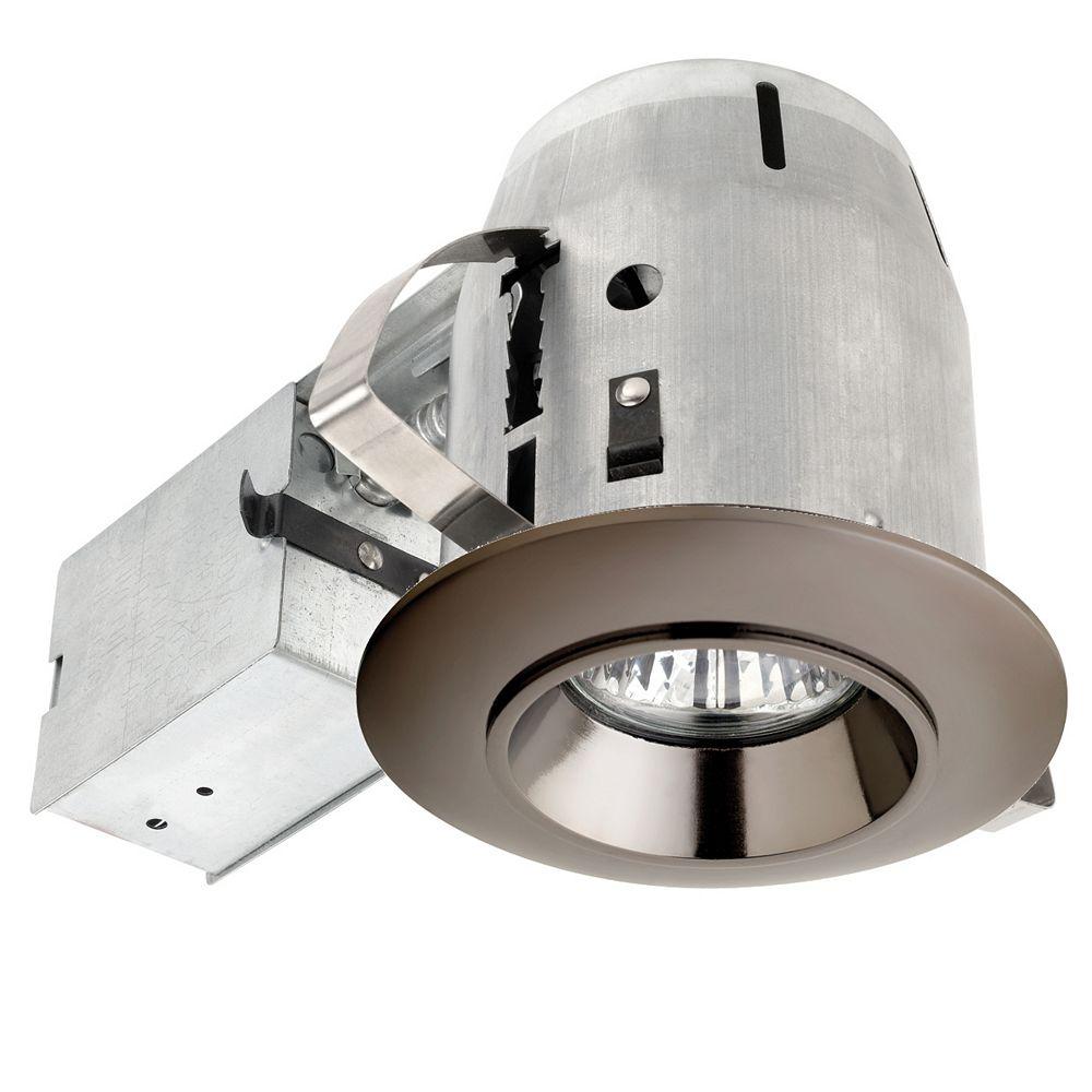 Globe Electric 90307 Ensemble d'eclairage encastre 3 pouces, finition en gris acier