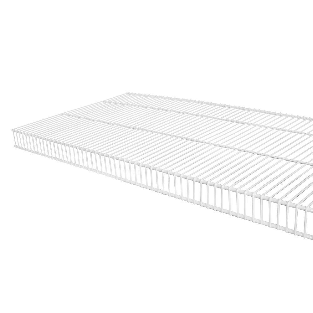 Rubbermaid TightMesh 16-inch x 3 ft. Wire Shelf in White