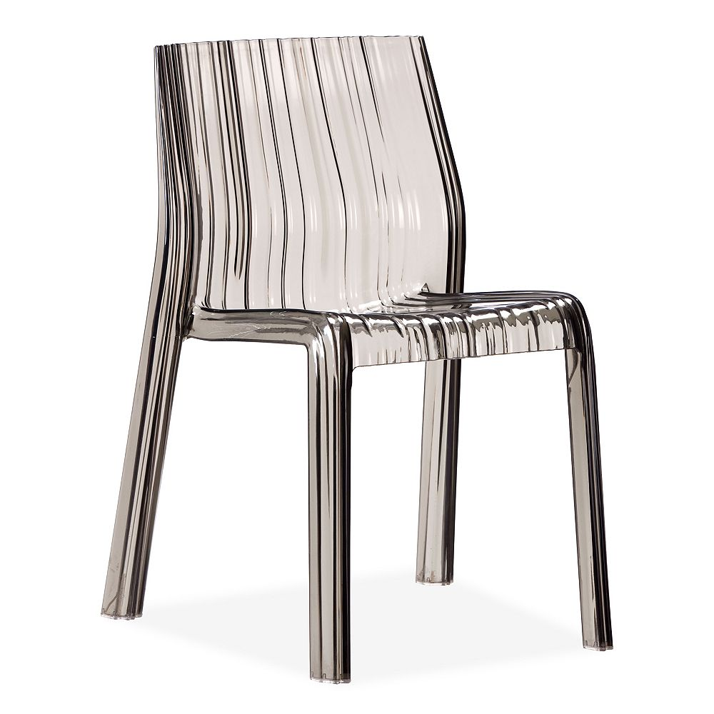 Zuo Modern Ruffle Dining Chair Transparent Gray