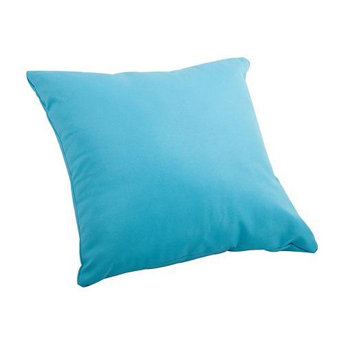 Laguna Sky Blue Large Outdoor Throw Pillow