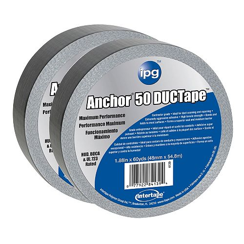 "ipg Intertape Polymer Group HVAC Premium 14 MIL Duct Tape 1.88"""" x 60 Yards - (2-Pack)"