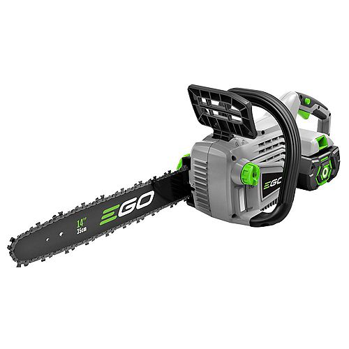 POWER+ 14-inch 56V Li-Ion Cordless Brushless Chainsaw Kit - 2.0Ah Battery and Charger included