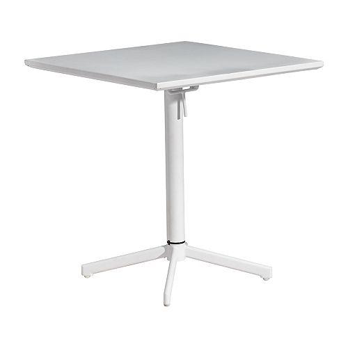 Big Wave Folding Square Table White
