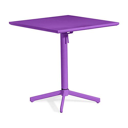 Big Wave Folding Square Table Purple