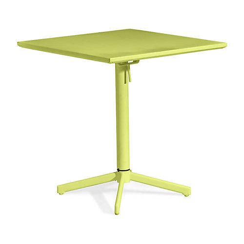 Big Wave Folding Square Table Lime