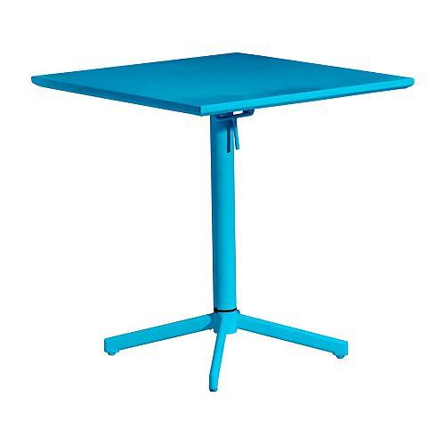 Big Wave Folding Square Table Aqua